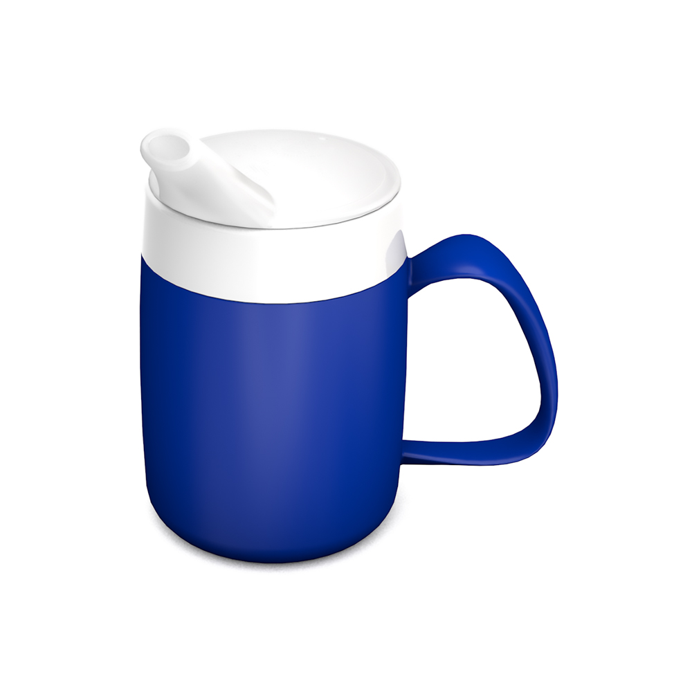 Mug with Internal Cone and Spouted Lid, small opening