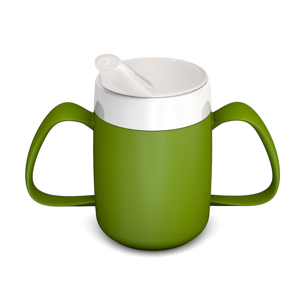 Two Handled Mug with Internal Cone 140 ml/4.9 oz with Spouted Lid
