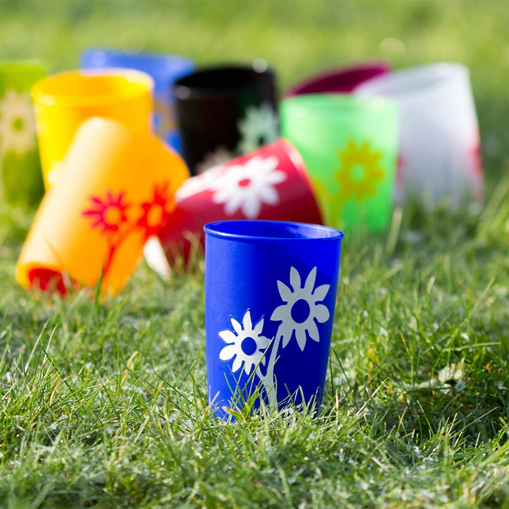 Non-Slip Cup with Flower 220 ml/7.7 oz
