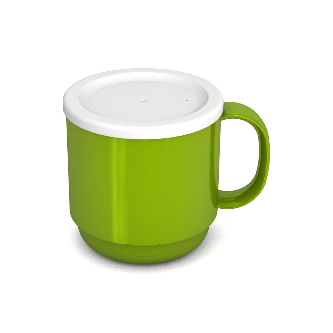 Mug with lid 220 ml