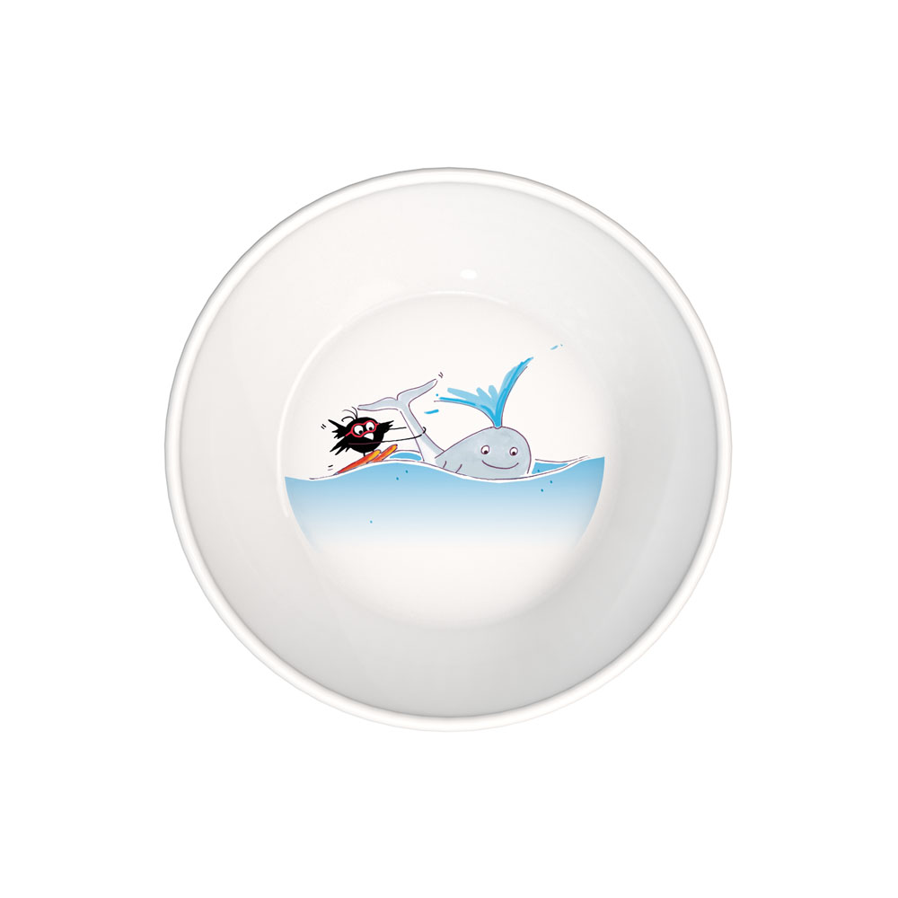 Plate deep with a children's design Ø 18,5 cm