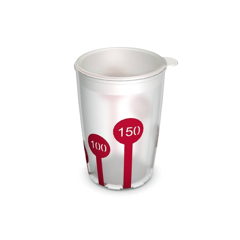 Non-Slip Cup with Scale and Drinking Lid