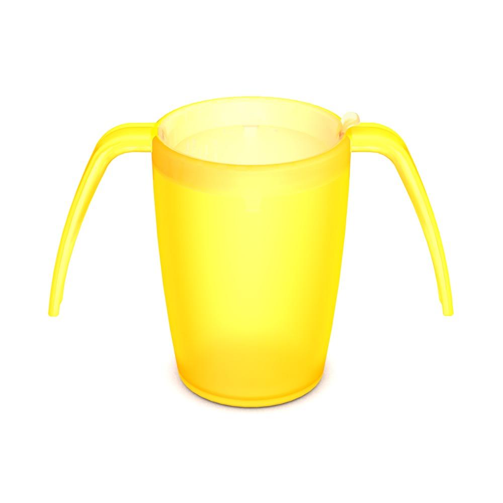Two Handled Mug with discreet Drinking Lid
