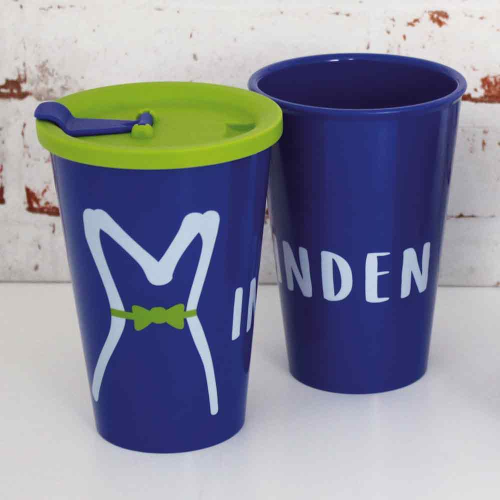 Coffee to go-Minden-cup with lid