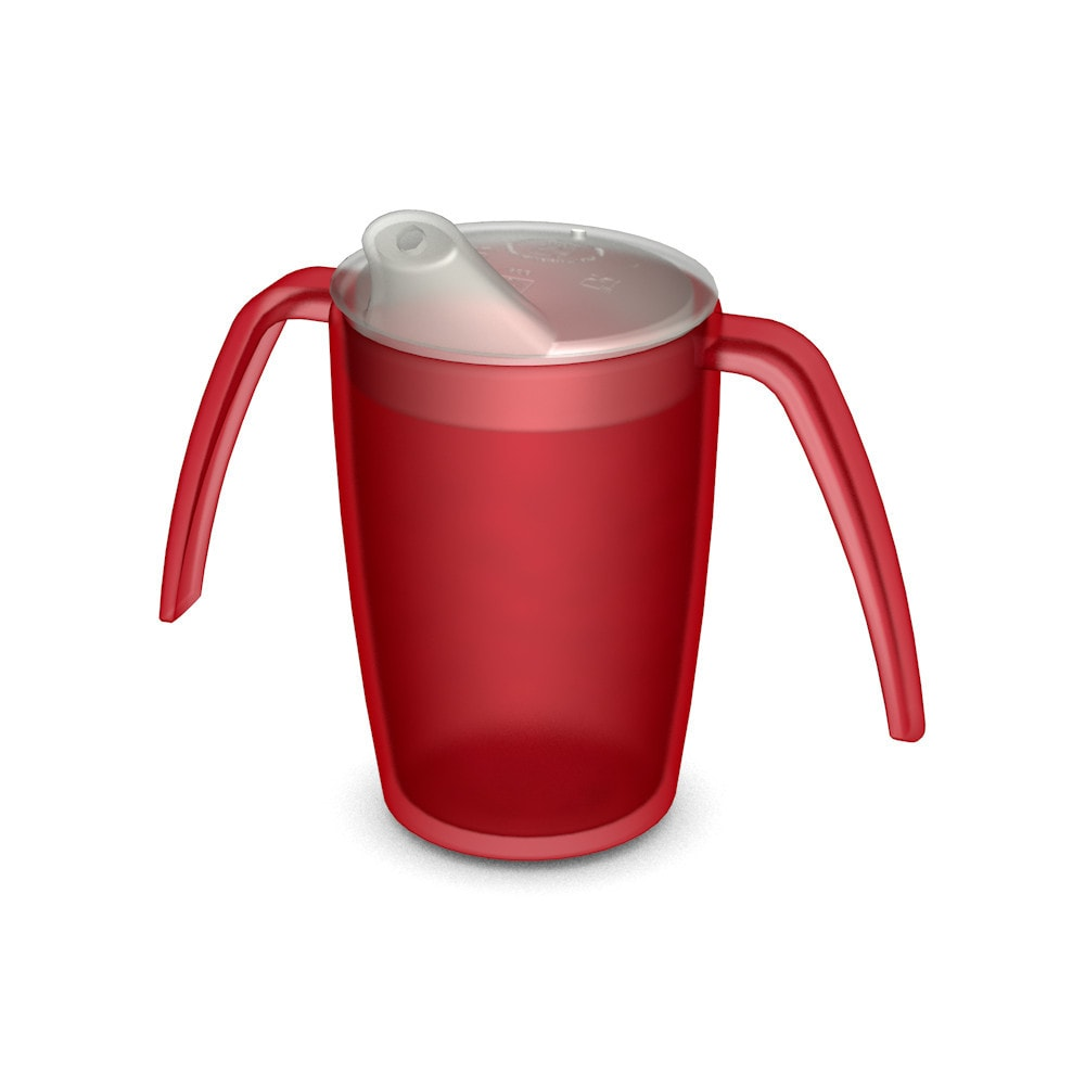 Two Handled Mug 220 ml/7.7 oz with Spouted Lid