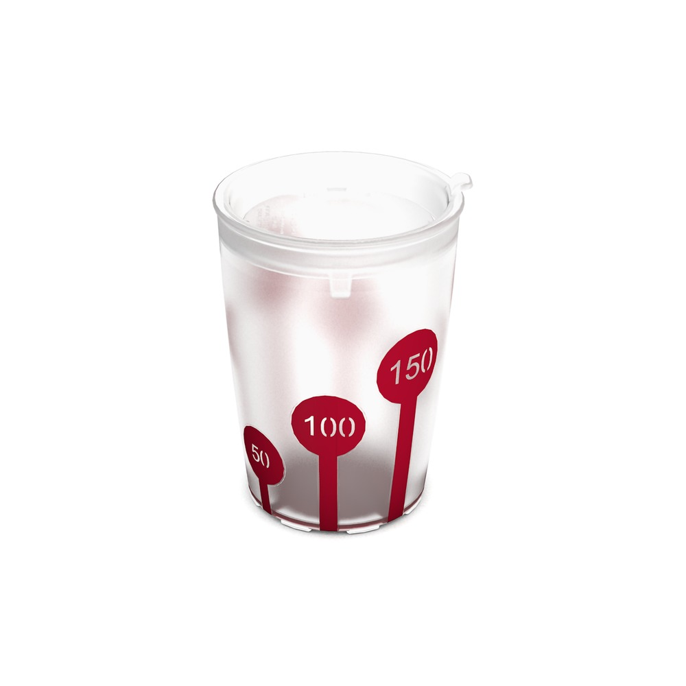 Non-Slip Cup with Scale and discreet Drinking Lid