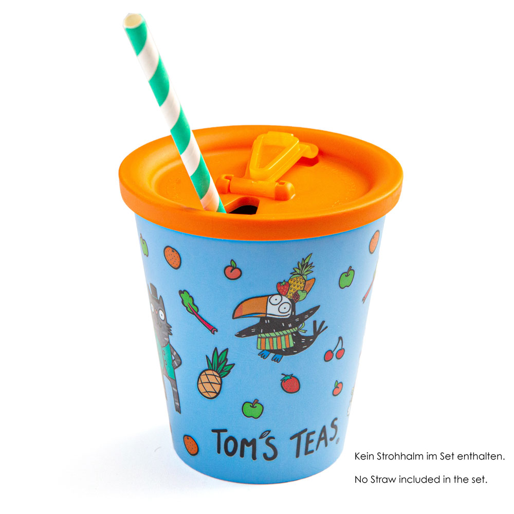 Tom's Teas Coffee to go Cup with lid