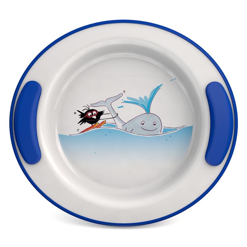 "Keep Warm Plate for children Ø 25.5 cm, Decor ""Whale"""
